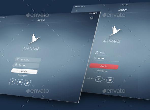 Flat Tablet UI KIT 2