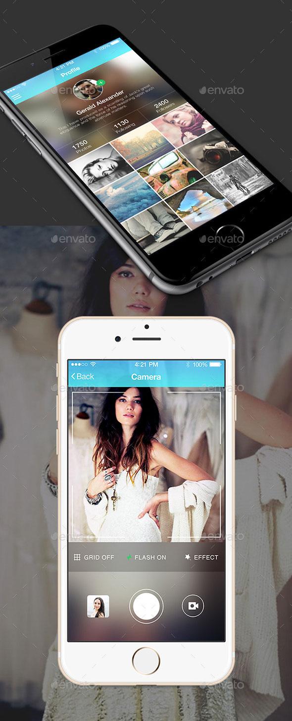 Skrill UI Kit Photo, Video Sharing App