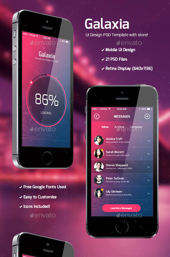 40 awesome mobile app ui psd templates web graphic design bashooka
