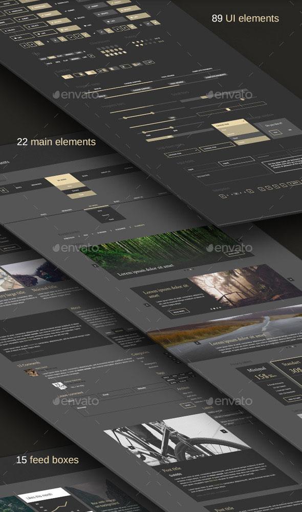 Elegance - Minimal and Dark UI kit