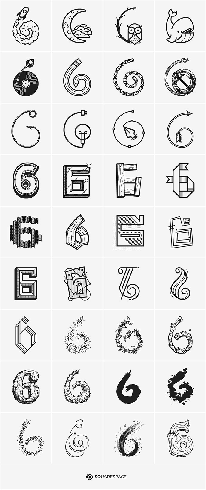 6 Different Types Of Artificial Nails You Can Try: 58 Beautiful Numerical Typography Designs