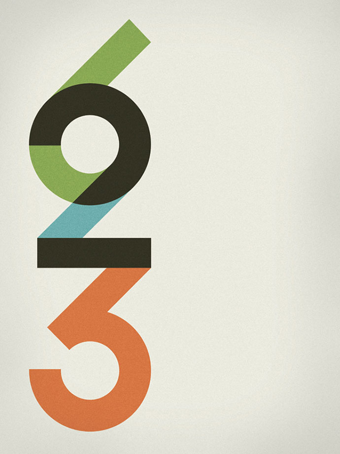 58 beautiful numerical typography designs web graphic for Blueprint number