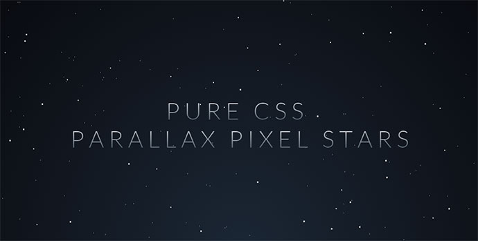 Parallax Star background in CSS