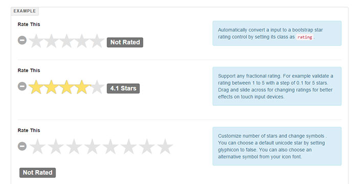 star rating for bootstrap