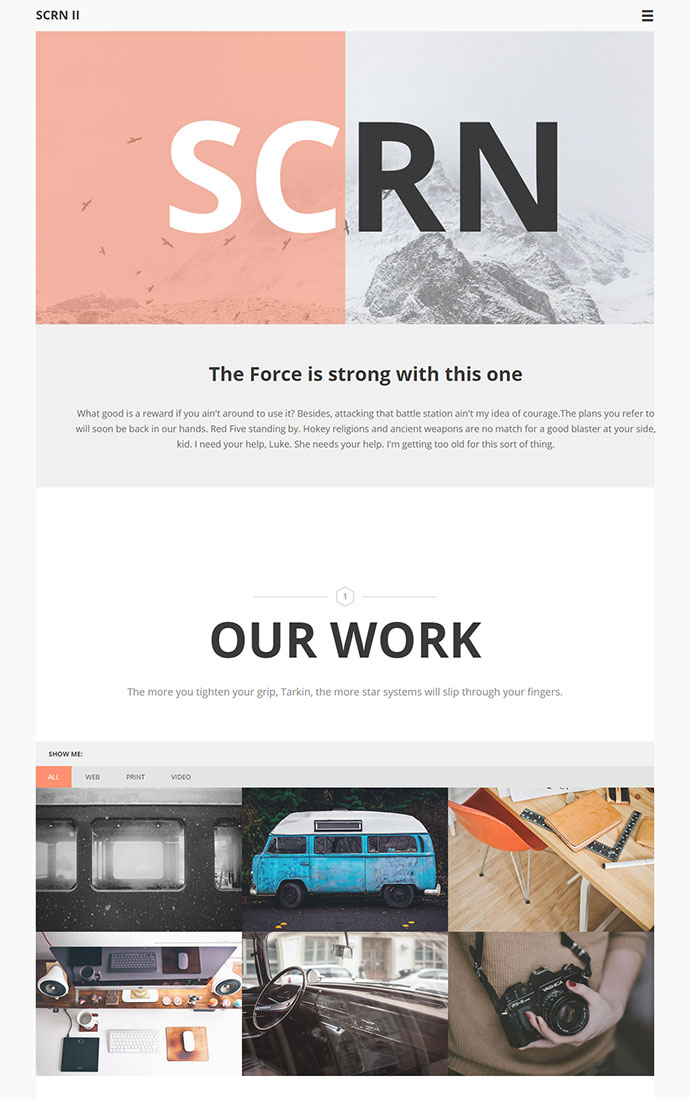 HTML template, perfect for agencies and freelancers.
