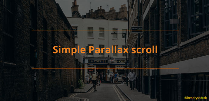 Simple parallax scroll