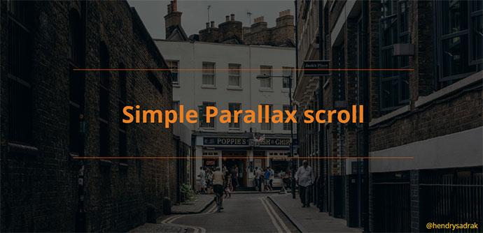Simple parallax scroll
