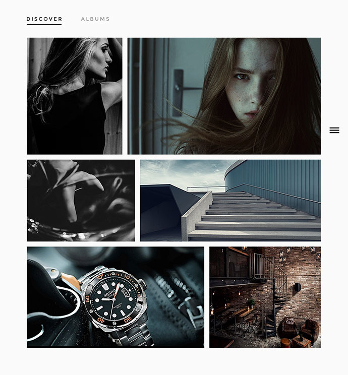 Tallinn is a clean and modern clean photography template that is perfect to promote your photo gallery in a very professional and pleasant way.