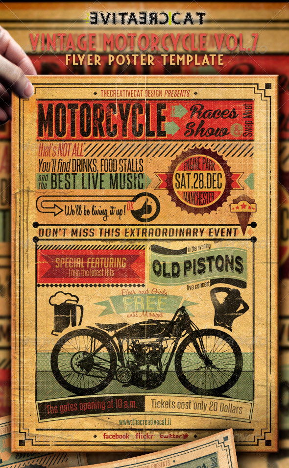25 Really Awesome Typography Flyer PSD Templates – Retro Flyer Templates