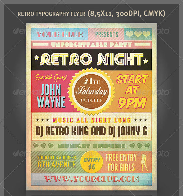 25 really awesome typography flyer psd templates  u2013 bashooka