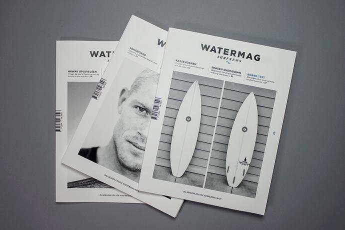 redesign the danish surf magazine Watermag surfnews.