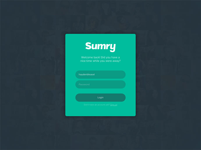 Sumry: Login
