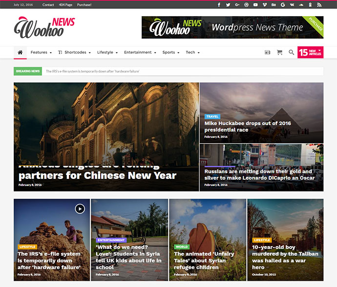 Modish News, Magazine and Blog Theme