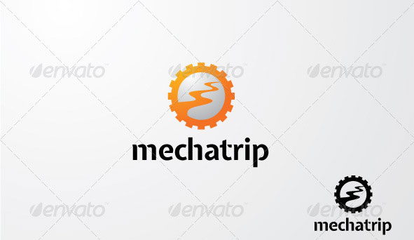 MechaTrip Logo template