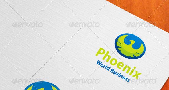 Phoenix World Business Logo
