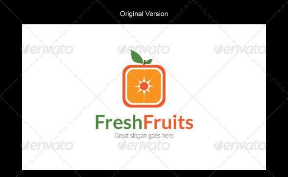Fresh Fruits Logo Design