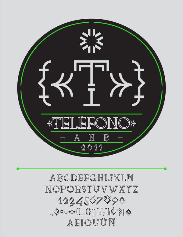 TELÉFONO Free Font