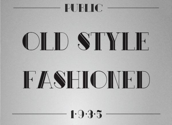 Public font