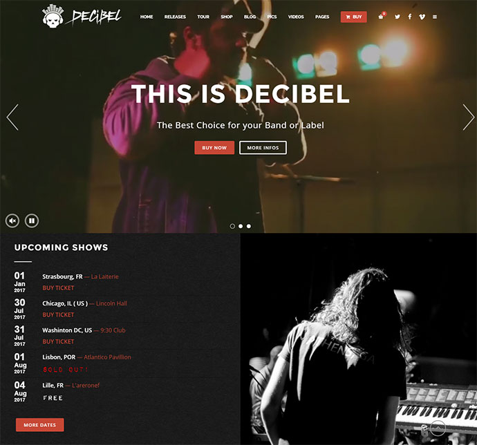 decibel wordpress
