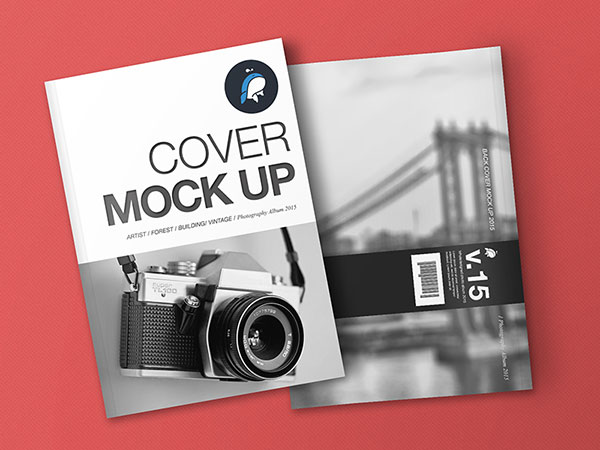 Brochure Mock up with Cover and Back Cover