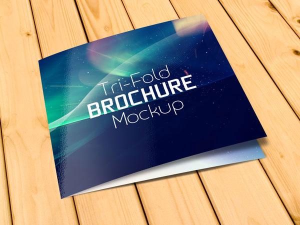 Free Square Tri-Fold Brochure Mockup PSD Files