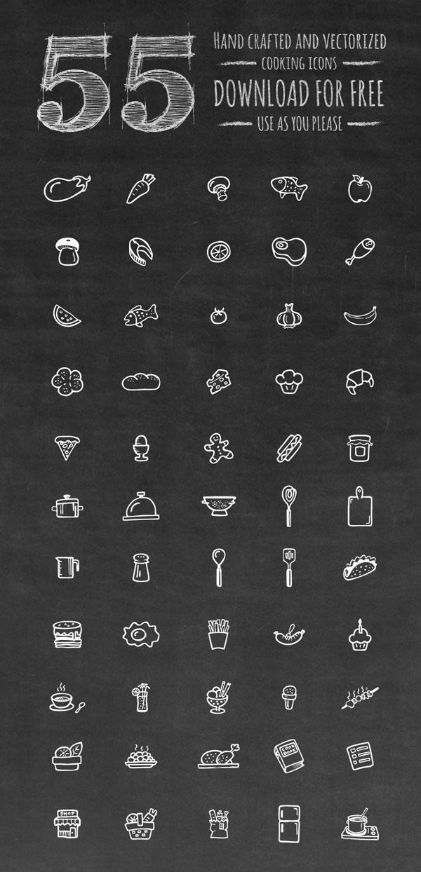 awesome food icon set
