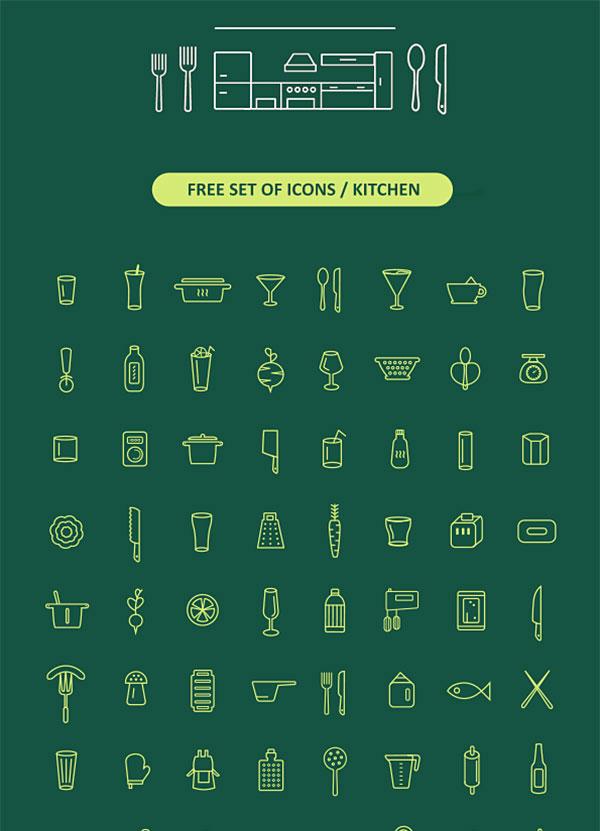 Free Set Of Kitchen Icons
