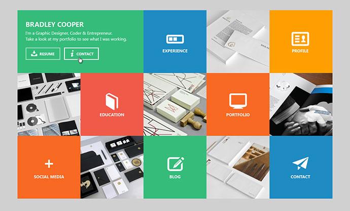 Cooper - vCard & Portfolio Metro HTML Template