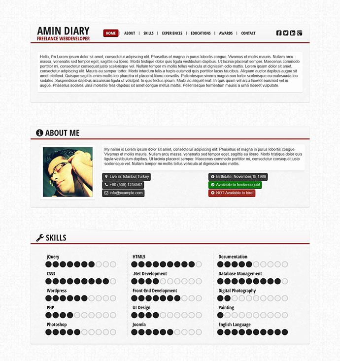 Paprica -  Responsive CV / Resume