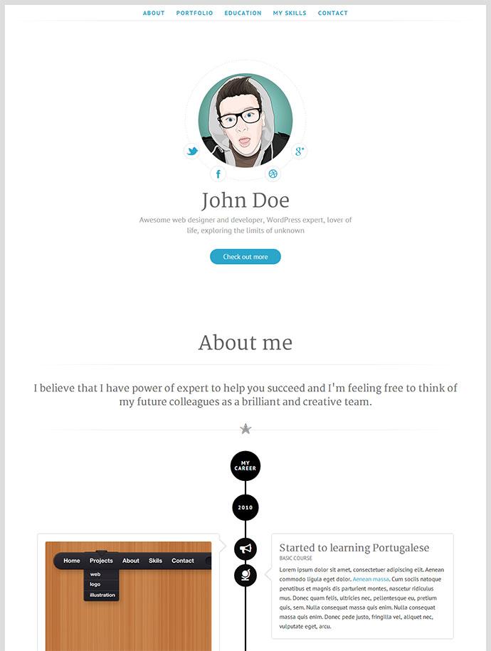 20 Intriguing Online Resume Templates | Web & Graphic Design | Bashooka
