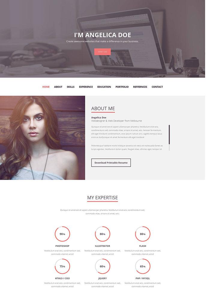Folix - Responsive Resume, Personal Portfolio Temp