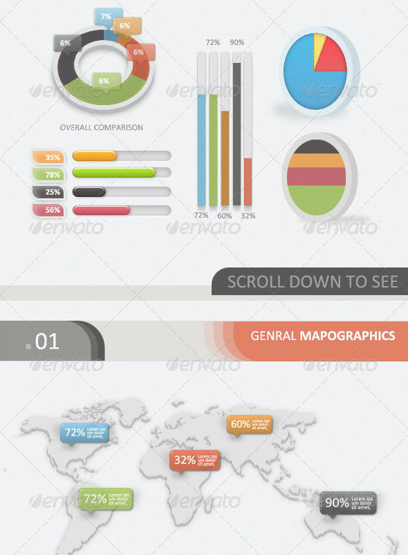 3D - 2D Infographic Elements Kit