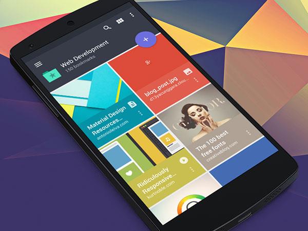 Raindrop Android app (Material design)