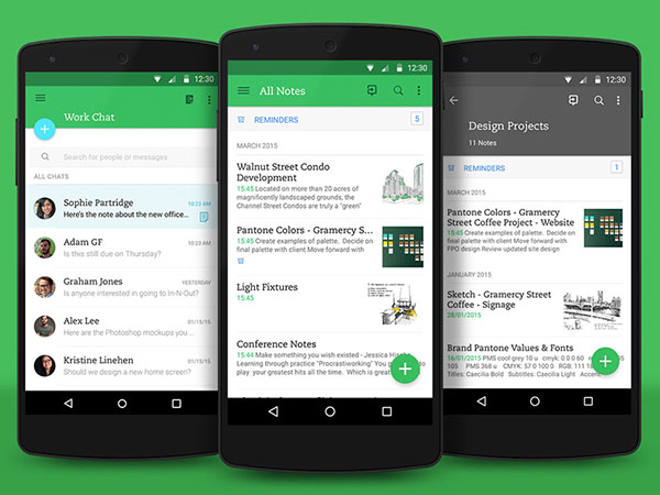 Evernote Material Design update