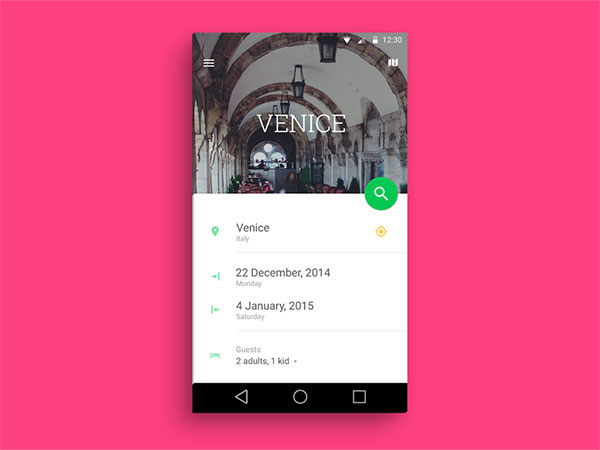 Hotel search app concept [Material Design]