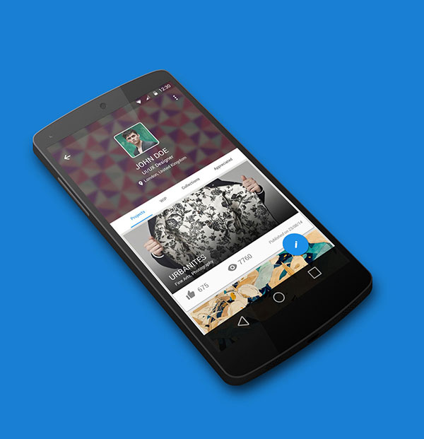 Behance Android L Redesign