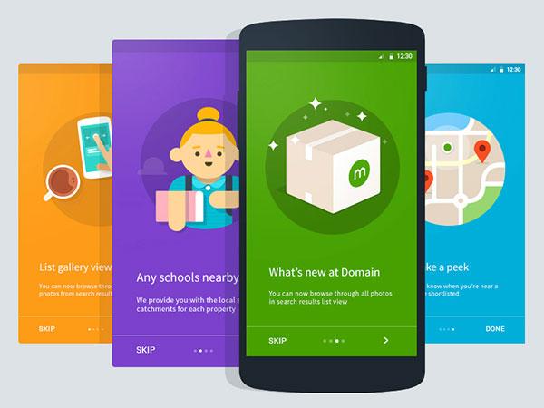 Domain - Android Intro Cards