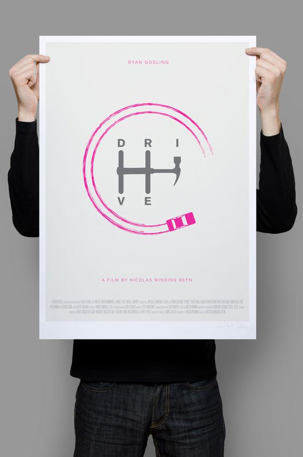 Drive minimalist movie poster