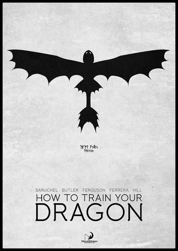 Great How to Train Your Dragon minimalist poster Love this movie