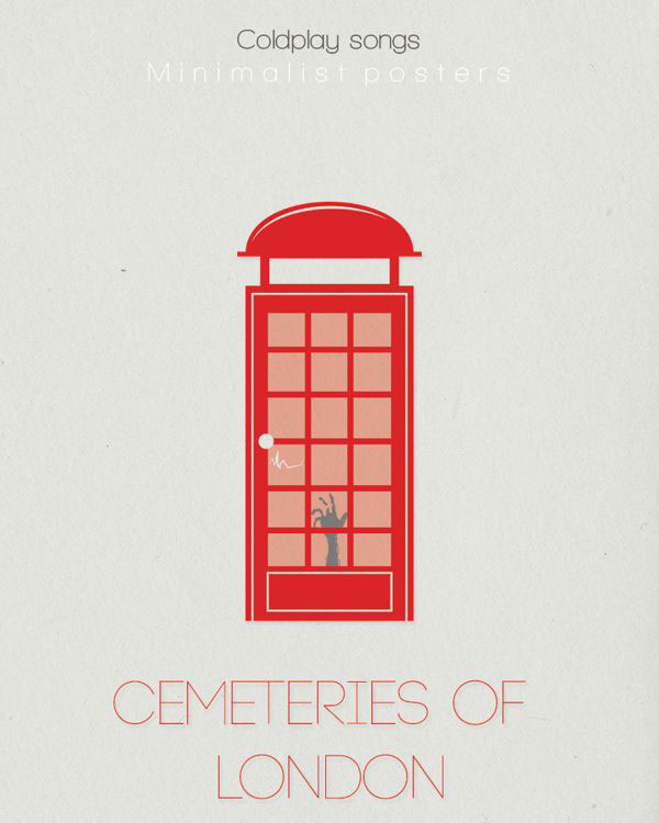 Minimalist Coldplay Cementeries of London