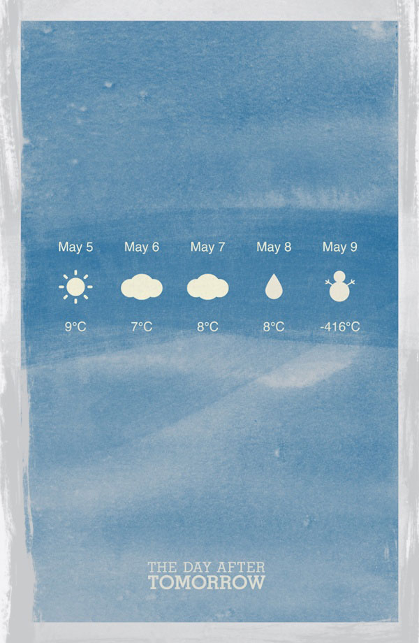 The Day After Tomorrow Minimalist Movie Posters by jiaan co via Behance minimalist wwwjiaancocom