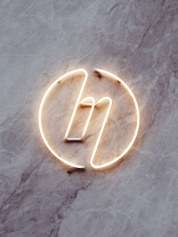 Neon Logo for The Millennium