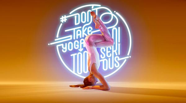 yoga neon typography