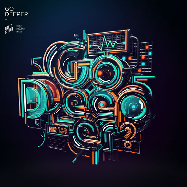 Graphic Design Inspiration: 25 Bright & Funky Neon Typography Designs