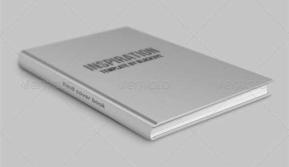 Hard Cover Book Mock-up