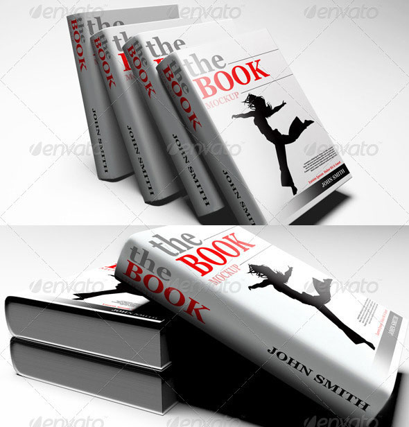 Photorealistic Book Cover Mock-Up