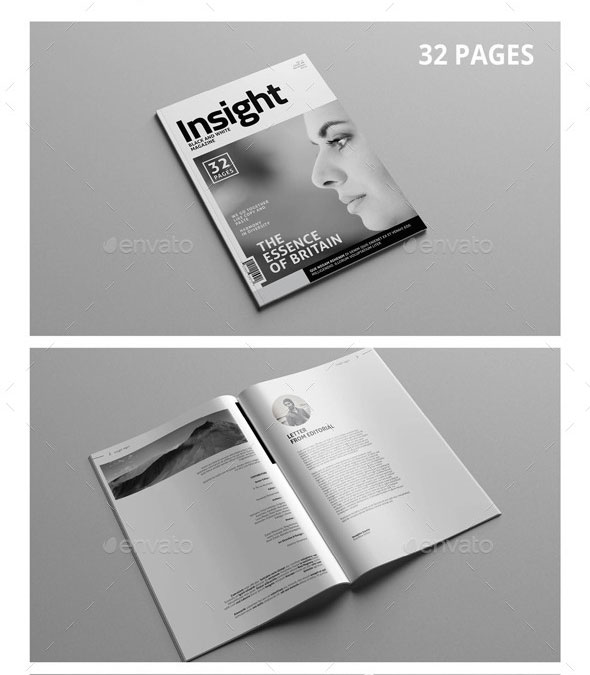 Black & White Multipurpose Magazine