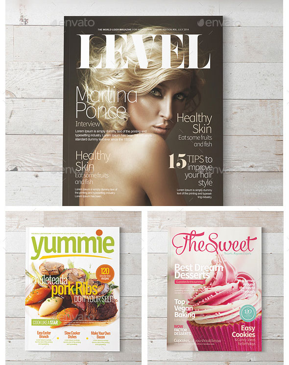 Magazine Covers Templates PSD