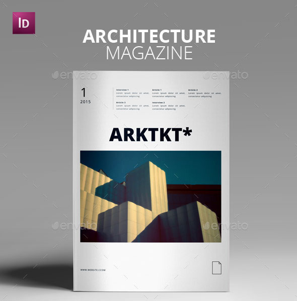 44 stunning magazine templates for indesign photoshop web graphic design bashooka - Design Architecture Magazine