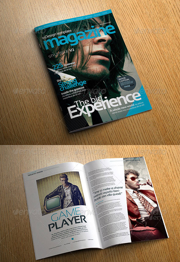 Stylish Volume 2 InDesign Magazine Template